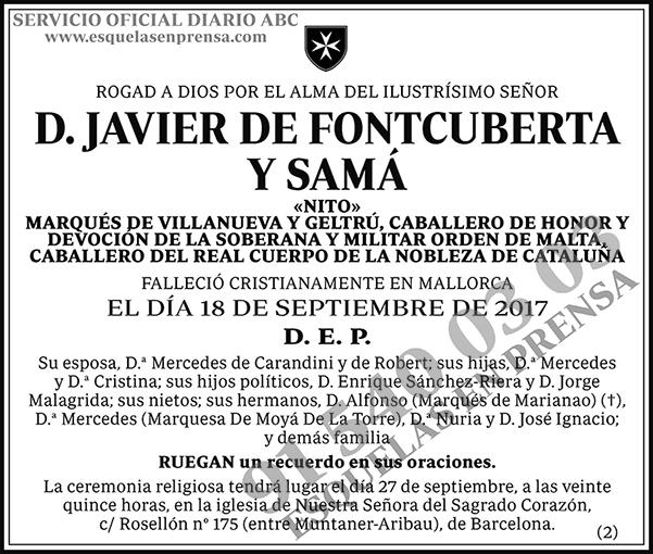 Javier de Fontcuberta y Samá